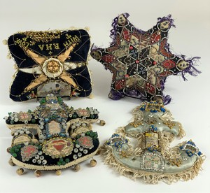 Group of Four Unusual Victorian Pincushions