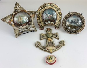 A Group of Shell Decorated Frames and Hanging Pieces