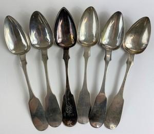 E.P Pratt (Chilicothe, Ohio) Coin Silver Tablespoons