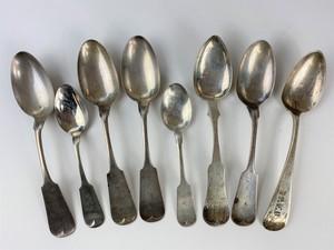 Rare F.A.L. Lesquereux (Columbus, Ohio) Coin Silver Spoons