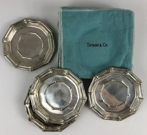 Tiffany and Company Sterling Silver Coasters, Set of 6