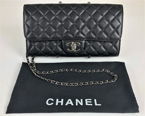 Chanel Black Leather Flap Handbag