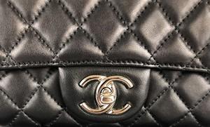 Chanel Black Leather Flap Handbag