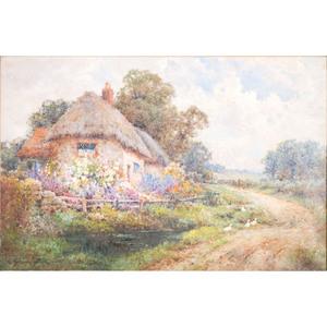 Alfred Fontville de Breanski Jr (English, 1877-1957, Garden Scene