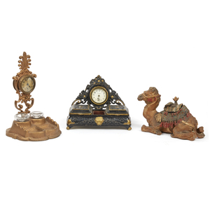19th century Ink Wells and Jewelry Stand