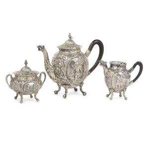 Continental Silver Three Piece Tea Set