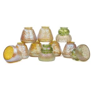 Ten Art Glass Shades