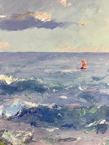 Pierre Bittar (American, b. 1934), Coastal Scene