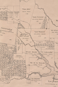 A FACSIMILE CADASTRAL MAP,