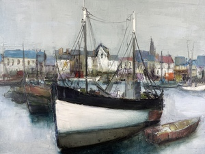Jacques Voyet (French, 1927-2010), Harbor Scene