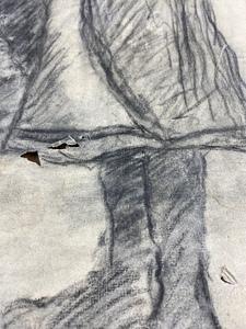 William Conor (Irish, 1881-1968), Three Huddled Figures