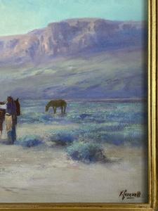 Victor Casenelli (Cincinnati, 1867-1961), Native American Encampment