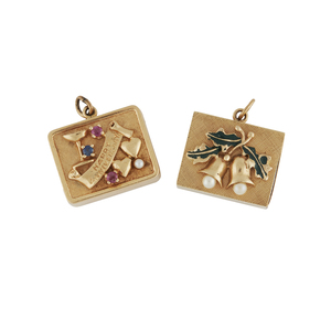 Pair of 14k Gold Musical Charms, 36.2 grams gross