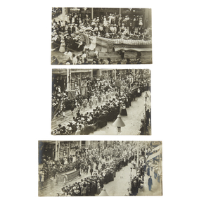3 George Parmenter photos of San Francisco Chinese New Year's parade, ca. 1900