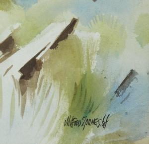 "Milford Zornes (1908-2008) Watercolor, ""The June II"""