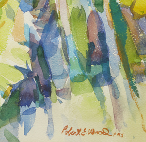 Robert Earle Wood (1926-1999) Watercolor