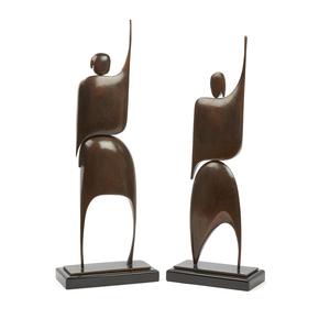 Pair of Robert X. Holmes (b. 1927) Bronze Figures