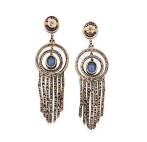 Lady's 14k Sapphire Diamond Earrings