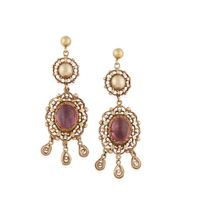 Lady's 14k Tourmaline Earrings