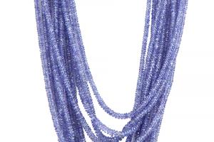 Lady's Multi Graduated Strand of Tanzanite Beads