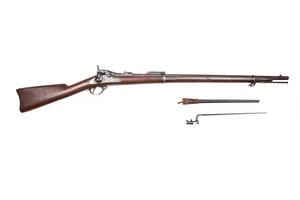 Springfield 1878 Trap Door Cadet Rifle and bayonet