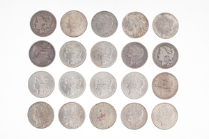 Twenty Morgan Silver Dollar Coins