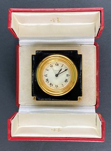 Cartier Travelling Clock in Case