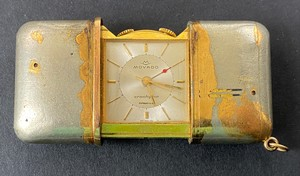 A Movado Ermetophon Travel Watch, Tiffany & Co. Retailed