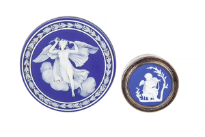Wedgwood and Wm Adams Lidded Boxes