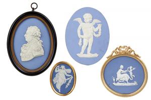 Four Wedgwood Jasper Plaques/Medallions
