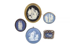 Five Assorted Jasper Jewelry Items