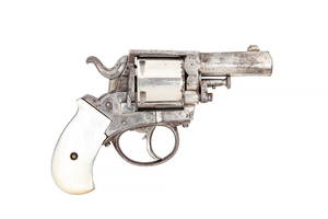 British Bulldog .44 Caliber Revolver with Mother of Pearl Grips