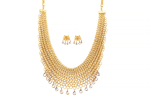 White Sapphire 22k Necklace & Earrings