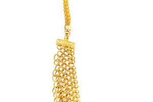 White Sapphire 22k Necklace & Earrings