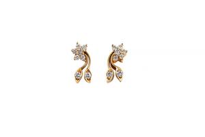 Diamond 22k Necklace & Earrings