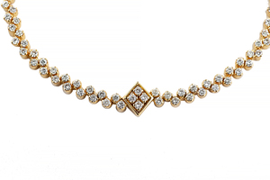 Diamond 18k Necklace & Earrings