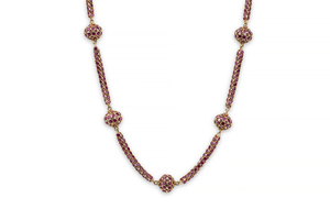 Ruby 18k Station Necklace