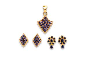 Assorted Sapphire 22k Jewelry
