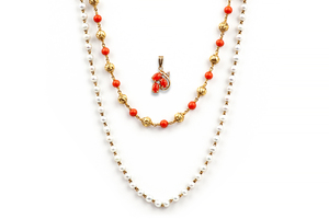 Assorted Coral Gold Jewelry