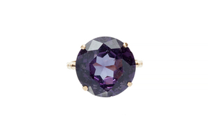14k Synthetic Alexandrite Like Ring