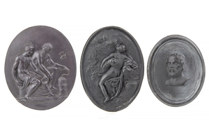 Wedgwood & Bentley Basalt Medallion and two Others