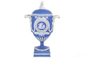Wedgwood Zodiac Tricolor Jasper Covered Urn