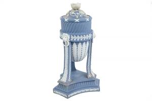 Wedgwood Blue Jasper Tripod Covered Urn