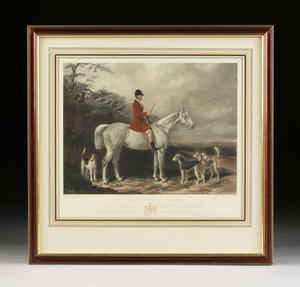 after WILLIAM BARRAUD (English 1810-1850) and HENRY BARRAUD (English 1811-1874) A GROUP OF TWO SPORTING PRINTS, MID 20TH CENTURY,
