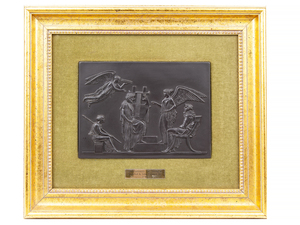 Wedgwood Basalt Plaque, Lord Wedgwood Collection, 20th c