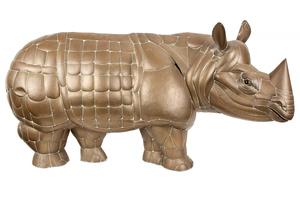 Large Sergio Bustamonte Brass Rhino Wall Art & Monkey