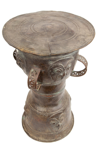 Metal Pedestal / Storage Vessel