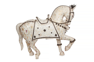 Shell Inlaid Stallion Figure