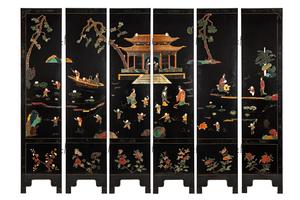 Asian Six Panel Screen