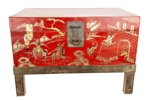 Asian Lacquer Trunk